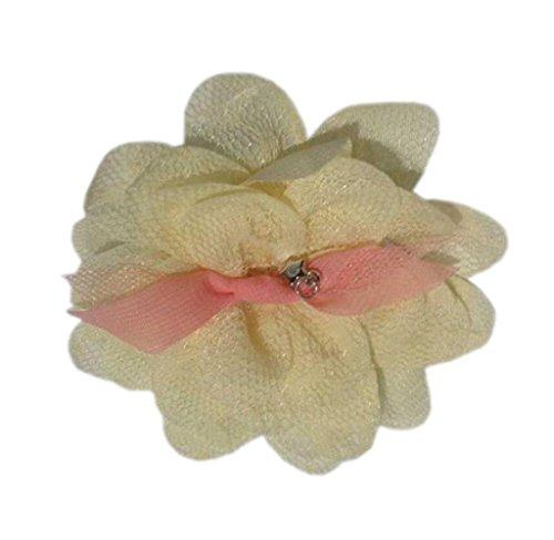 Hirolan Spitze Stirnband Kinder Elastisch Blume Muster Haar Mädchen Baby Prinzessin Stirnband (18cm, Gelb)