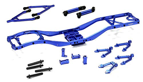 Integy RC Model Hop-ups C24856BLUE V2 Alloy Ladder Frame Chassis Kit w/ Hop-up Combo for SCX-10 Dingo, Honcho, Jeep