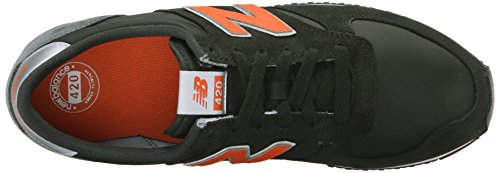 New Balance Unisex – Adulto U420 scarpe da ginnastica nero / arancione