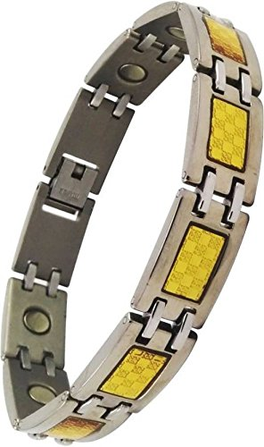 Magnaz Golden Bio Magnetic Therapy Titanium Metal Chain Bracelet for men/women  available at amazon for Rs.999