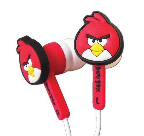 "In-Ear Kopfhörer Headphone Ear Buds für Nintendo 3DS ""Angry Birds"" rot"