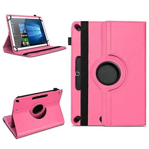 Tablet Tasche für 10 - 10.1 Zoll Hülle Schutzhülle Case Cover 360° Drehbar Neu, Farben:Pink, Modell:Acepad A96