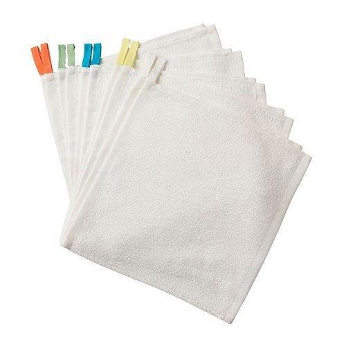 Ikea krama lavette, cotone, bianco, 32x17x4 cm, 10 unità