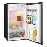 Klarstein Spitzbergen Uni • Kühlschrank • Standkühlschrank • beschreibbare Tür mit Marker • 90 Liter Volumen • 2 x Glasablage • Eisfach • Gemüsefach • Türanschlag beidseitig montierbar • schwarz