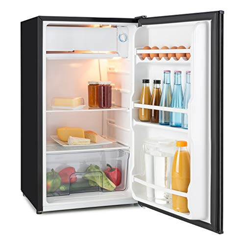 Klarstein Spitzbergen Uni • nevera • refrigerador • marcador para escribir en la puerta • 90 l • 2 estantes de vidrio • compartimentos de hielo y verduras • temperatura ajustable en 5 niveles • negro