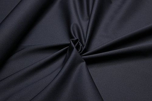 Gabardine Baumwolle Satin Stoff Elasthan Lycra Meterware Elastisch Köper Gekämmt Baumwollgabardine Bekleidung (Navy Blau Gabardine Breite:142cm / 385g Lfm / - 98% Baumwolle - 2% Esathan GS7) (Navy Gabardine)
