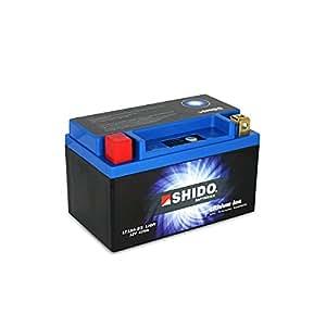 SHIDO LT12A-BS LION -S- Batterie Moto Lithium Ion