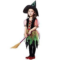Yanhoo Niedlichen Kleinkind Kinder Baby Mädchen Halloween Kleidung Kostüm Kleid Party Kleider + Hut Outfit Cosplay Tanz Rave Für Festival