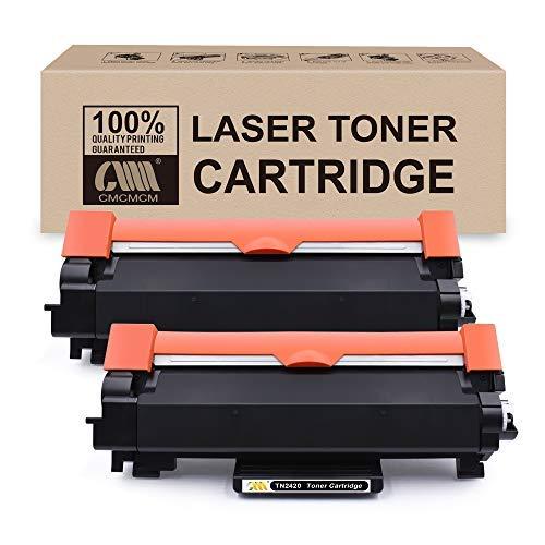 CMCMCMCM 2PK - Cartuccia toner compatibile per Brother TN-2420 TN 2420, compatibile con Brother MFC-L2710DW HL-L2350DW DCP-L2530DW HL-L2370DN HL-L2375DW DCP-L2510D MFC-L2710DN MFC-L2730DW HL-L2310D