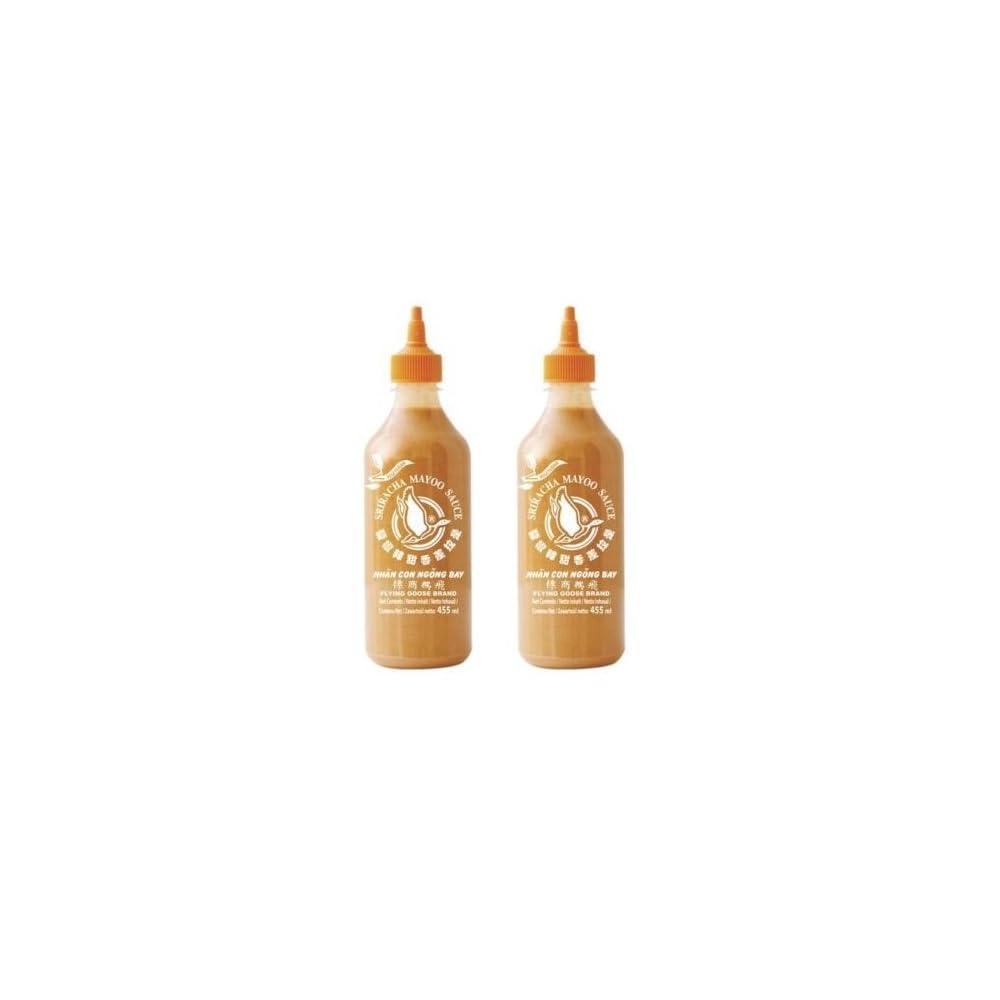 Doppelpack 2 X Sriracha Mayo Sauce 455ml Chilli Soe Mayonnaise Vegan Sushi Pamai Pai