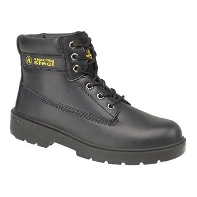 Chaussures montantes de sécurité S1-P Amblers Steel FS112 pour homme (43 EUR) (Noir)