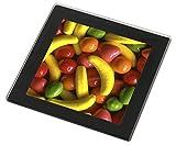 Advanta - Glass Coasters Fruchtbonbons Glasuntersetzer mit schwarzem Rand