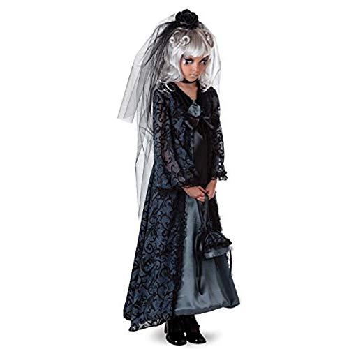Braut Mitternacht Kostüm - Princess Paradise Mitternachts Braut Kinder Fasching Halloween Karneval Kostüm (116)
