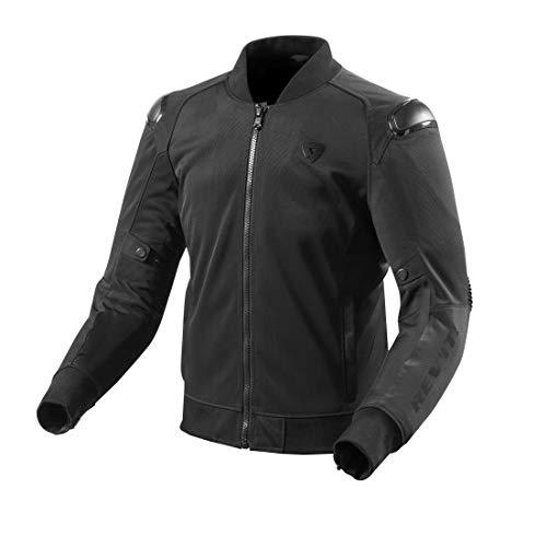 REV'IT! Motorradjacke, Motorrad Jacke Traction Textiljacke schwarz M, Herren, Sportler, Sommer