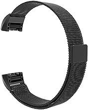 Fitbit Charge 2 Correa de Bloqueo de la Banda, Hanlesi Pulsera de Acero Inoxidable Fitness Wristband para Fitbit Charge 2