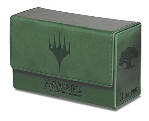 ultra-pro-mana-dual-flip-deck-box-gree-matte-finish-magic-the-gathering-symbols-oversize