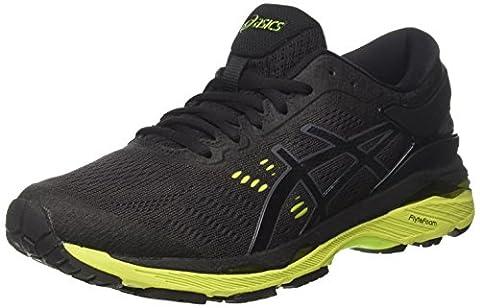 Asics Men's Gel-Kayano 24 Running Shoes, Black (Black / Green Gecko / Phantom), 8 UK
