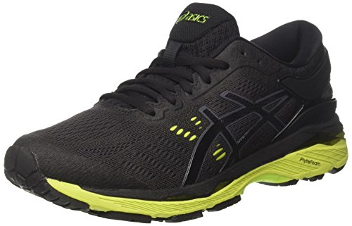 Asics Gel-Kayano 24, Scarpe Running Uomo Nero (Black / Green Gecko / Phantom)