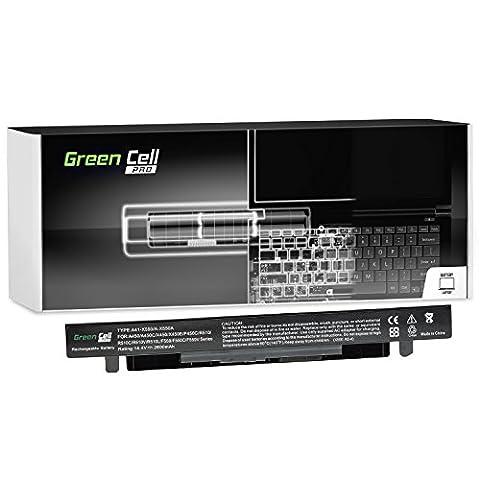 Green Cell® PRO Série A41-X550A Batterie pour Asus X550 X550C X550CA X550CC X550CL X550E X550L X550LN X550V X550VB X550VC X550VL Ordinateur PC Portable (Les Cellules Originales SDI, 4 Cellules, 2600mAh, Noir)