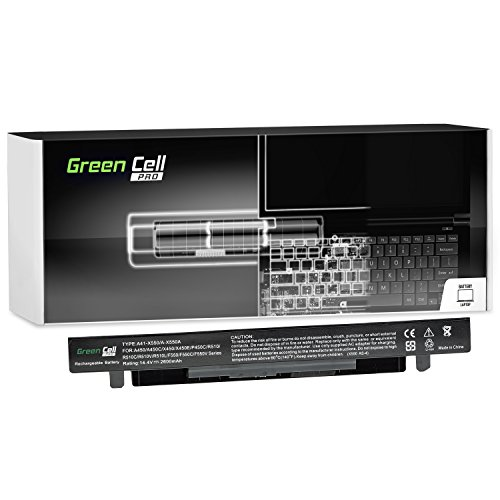 Green Cell® PRO Serie A41-X550A Laptop Akku für Asus R510 R510C R510CA R510CC R510E R510J R510JK R510L R510LB R510LN R510V R510VC (Original Samsung SDI Zellen, 4 Zellen, 2600mAh, Schwarz)
