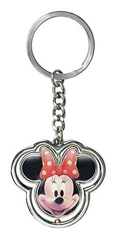 Disney Minnie Mouse Head Spinner Key Ring