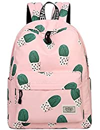 Gespout Escolares Mochilas Lienzo Portátil Bolso Deporte Mochila para Mujer  Niñas Juveniles Cumpleaños Regalo Daypacks Mochila d2d4b91c9ba