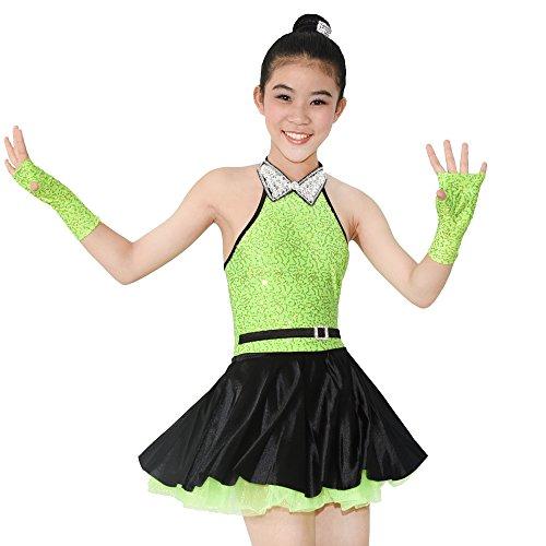 ettenbesetzte Tank Top Lyrischen Kleid Tanzen Kostüm (SC, Apfelgrün) (Lyrische Kleid Dance Kostüme)