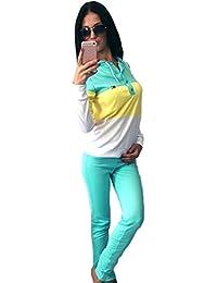 YiLianDa Femme Jogging Survêtement Blouson Pantalons Hoodies Femmes Sweat