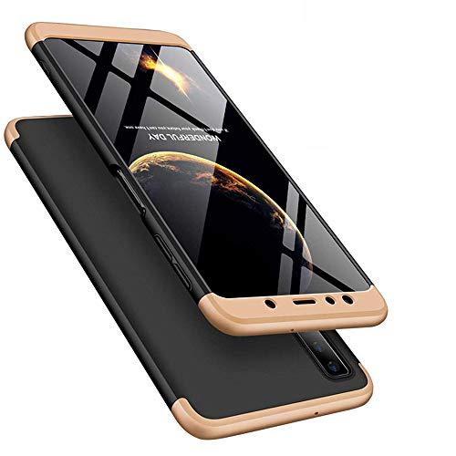 COTDINFOR iPhone XS MAX Funda para Regalo Hard PC Plastico Material Shockproof Defensor Amortiguador Carcasa para iPhone XS MAX (6.5 Inch) - 3 in 1 PC Gold Black AR