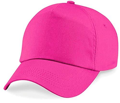 Shirtinstyle Basecap Cap 5 Panel Cap Verschluss Klettverschluss Größe Unisex, Farbe pink 5-panel Twill Cap