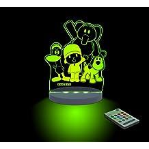 FUNLIGHTS Pocoyo & Amigos Lámpara Bebé LED Multicolor con Mando. Elige el Color, Intensidad, Temporizador, Arco-iris y ¡mucho más!