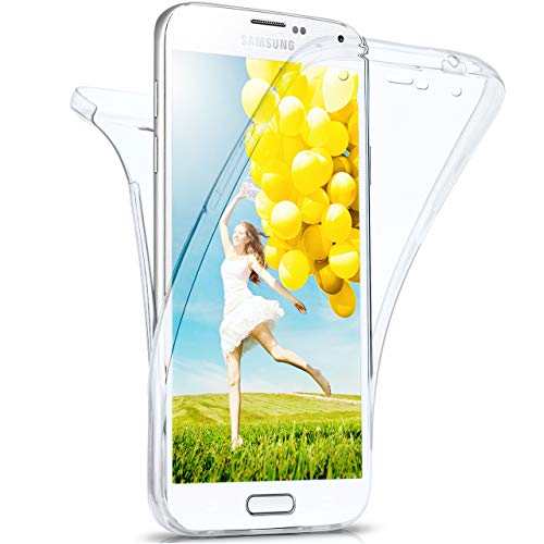 moex Samsung Galaxy S5   Hülle Silikon Transparent 360 Grad Double Side Cover Dünne Schutzhülle Slim Handyhülle für Samsung Galaxy S5 / S5 Neo Case Transparent Silikonhülle TPU