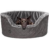 Pets&Partner Hundebett | Hundekissen | Hundekorb | Hundesofa für Mittlere und Große Hunde, Größe XL, Grau