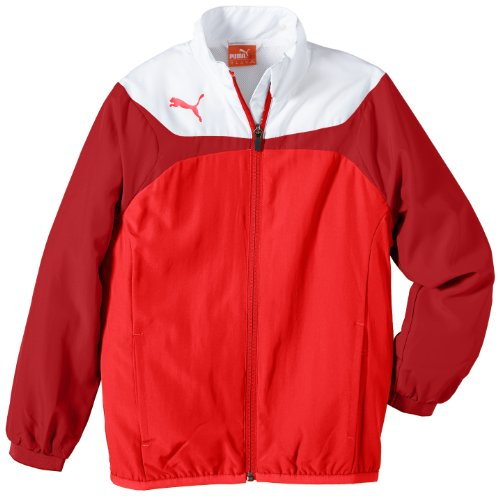 Puma Kinder Jacke Esito 3 Leisure Jacket, red-white, 152, 653971 01