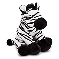 "Zappi Co 6"" Plush Collectible Zebra, Soft Cuddly Toy"