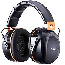 Proteccion auditiva,Tacklife HNRE1 Orejeras Protectores SNR 34dB,Plegables Defensores del Oído con Tecnología