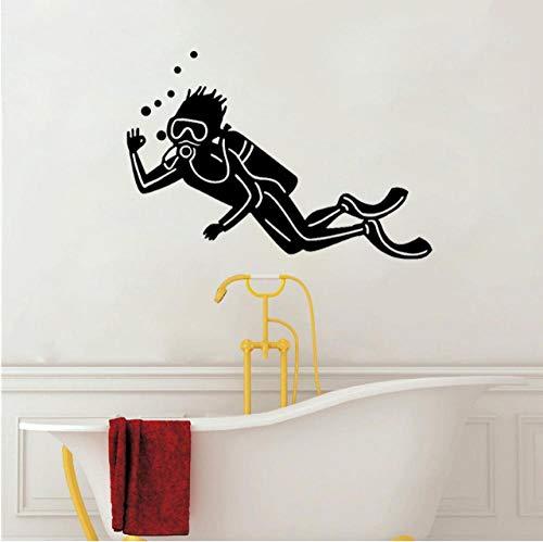Aufkleber Wandsticker Wandaufkleber 52 Cm * 35,2 Cm Tauchen Wandaufkleber Wohnzimmer Das Schlafzimmer Pvc Gym Pool Schwimmer Decor -