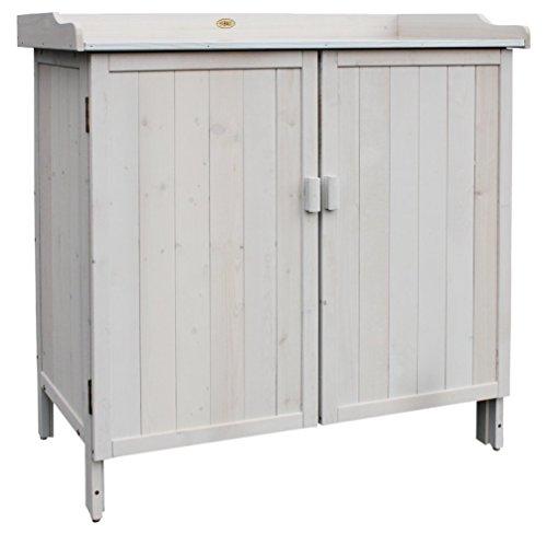 Arbeitstisch Türen (Habau Gartentisch Lino, grau, 98 x 48 x 95 cm, 3095)