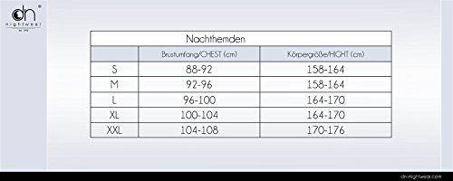 Dobranocka TM.6019 Confortable Et Moelleuse Chemise De Nuit - Fabriqué En UE - Gris