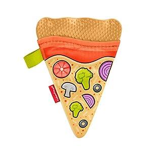 Fisher-Price - Mordedor de pizza Juguetes para bebés +3 meses (Mattel GGC77)