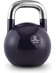 Capital Sports Compket - Kettlebell aux normes olympiques pour exercices de musculation : soulever, lancer, balancer