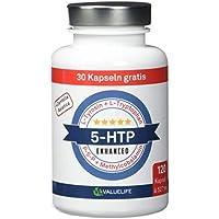 VERGLEICHSSIEGER 5/2018: 5-HTP Enhanced I Hochdosiert mit 180mg reinem 5 HTP, kombiniert mit L-Tryptophan, L-Tyrosin, Tigergras & Vitamin B6,B12 I 120 Kapseln