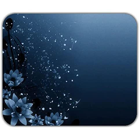 Nizza fiori di loto Lovely fancy blue art Mouse Pad Tappetino morbido lavabile - Nizza Mouse Pad
