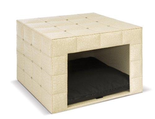 hundeinfo24.de DOGDOG mmcu-cw MM-Edition Hundehaus gesteppt Croco weiß