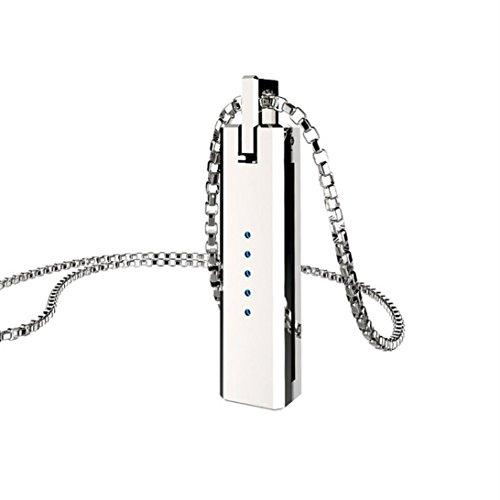 Hunpta Einzigartige Metall Halskette Anhänger Magnetische Halter Kette für Fitbit Flex 2 Band (Silber)