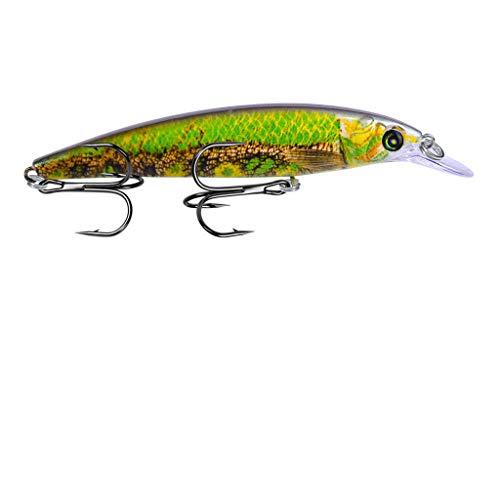 TIREOW 2019 Neue Angelköder Kurbelhaken Bass Crankbaits Tackle Sinking Fish Bait (C) (Gear Savage Bass)