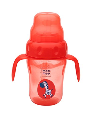 Mee Mee 2 in 1 Spout and Straw Sipper Cup (Red) - 210 ml