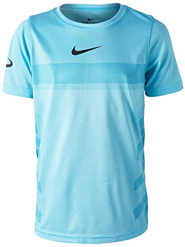 Nike Jungen Court T-Shirt, Lagoon Pulse/White, XL