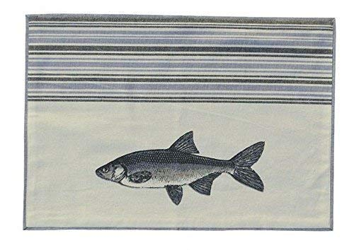 Linoows Maritime Napperons, Set de Table avec Poisson Motif Truite, Coton