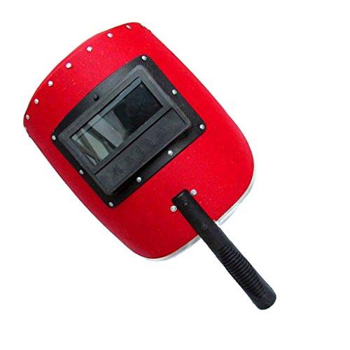 F Fityle Handheld Kunststoff Gesicht Sicherheit Schutz Werkzeug Schweißmaske Gesichtsschutz, Größe: Ca. 30x 25x 15cm / 11.81x 9.84x - Gesichts-licht-schalter